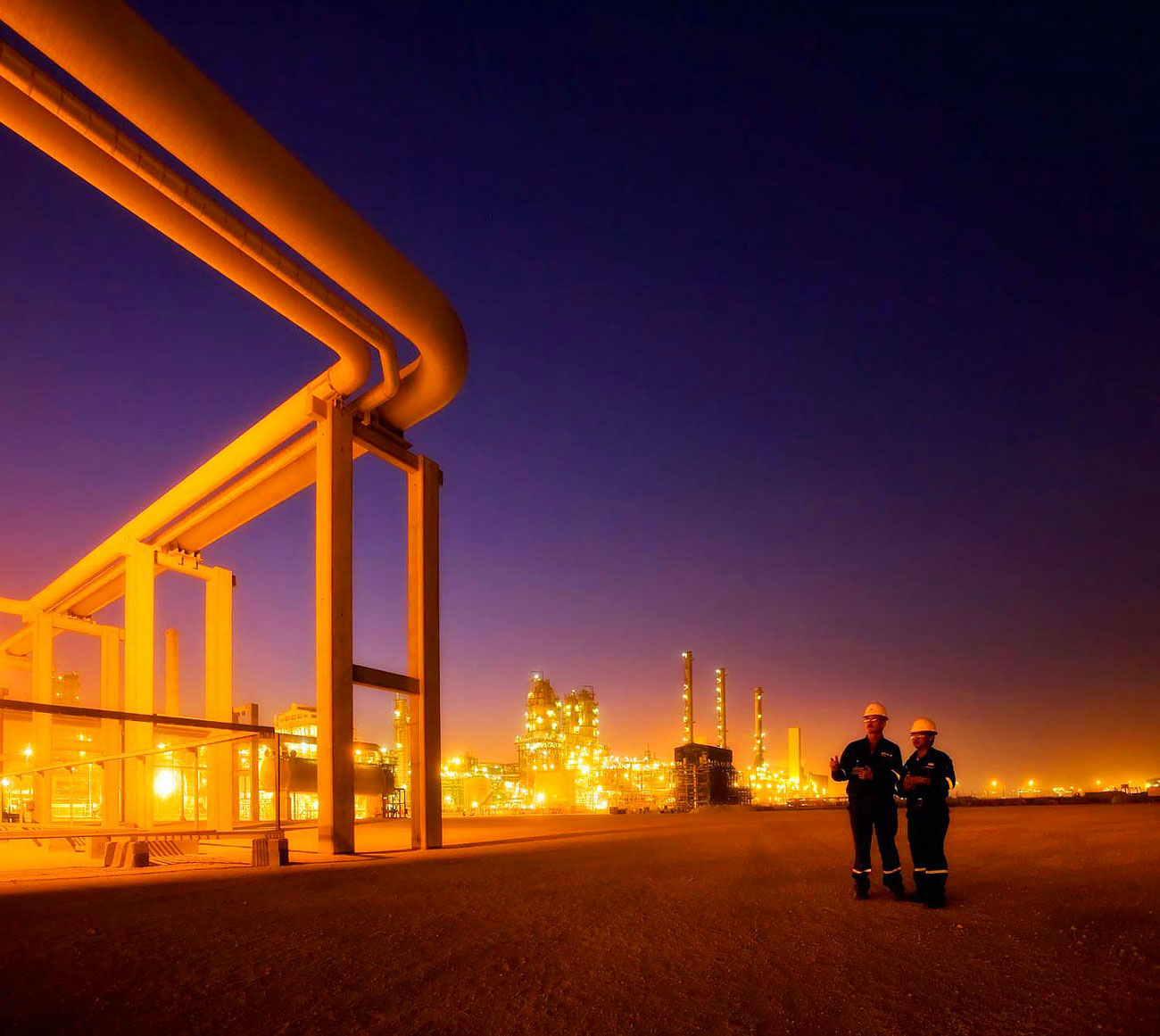 Middle East gas to liquids plant - industrial photography portfolio