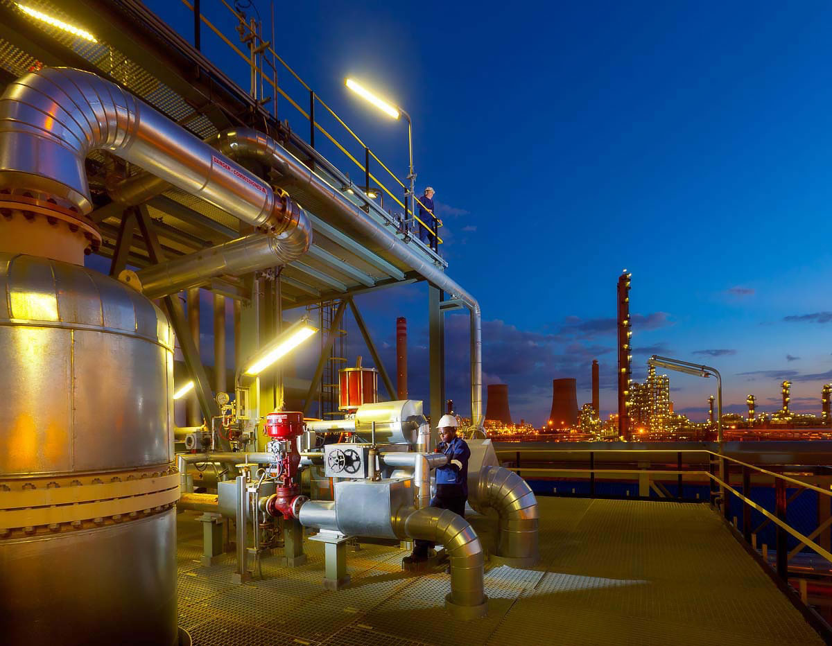 Petrochemical plant South Africa industrial photography